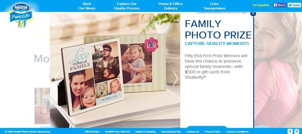 family photo prize
