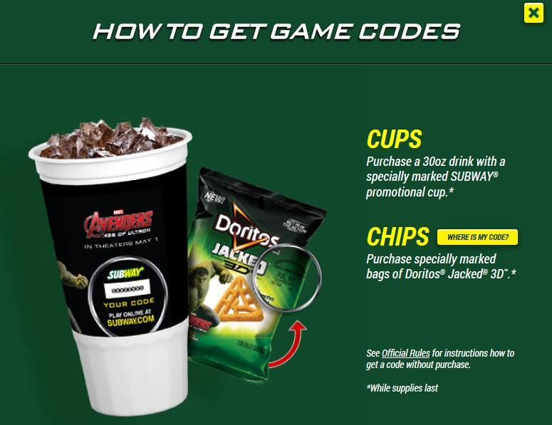 subway game code