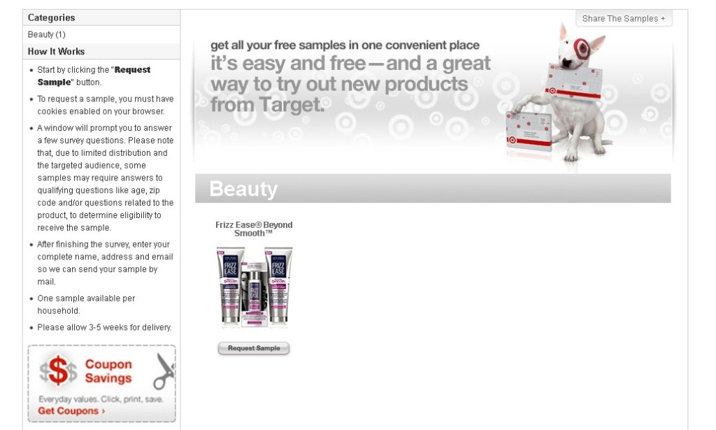 Free Frizz Ease® Beyond Smooth™ Sample at Target1
