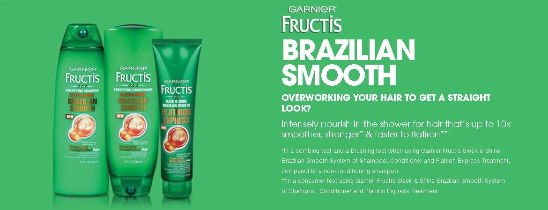 Free Garnier Fructis Brazilian Smooth Haircare Sample - #GIFTOUT ...