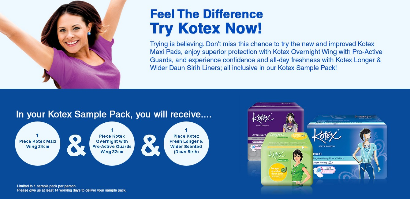 Free Kotex Malaysia Sample Pack Giveaway Giftout Free Giveaways