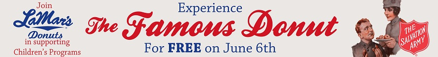 Free LaMar's Donuts on National Donut Day NDDheader-web
