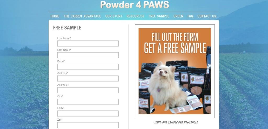 Free Powder 4 Paws Sample1