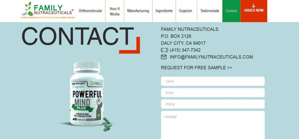 Free Powerful Mind Plus with Cognizin Sample1