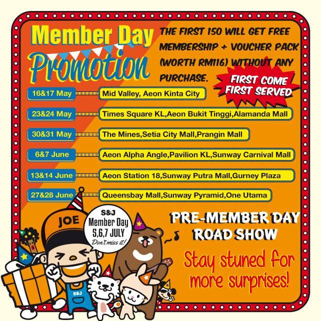 S&Jmember day promo