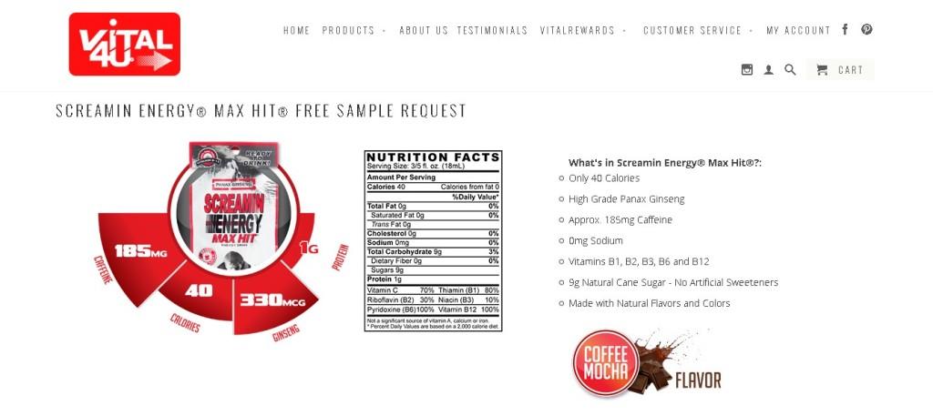 Screamin Energy® Max Hit®- Coffee Mocha Flavor Free Sample Request1