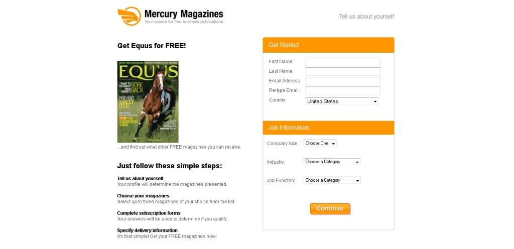 Free Equus Magazine at Mercury Magazines USA