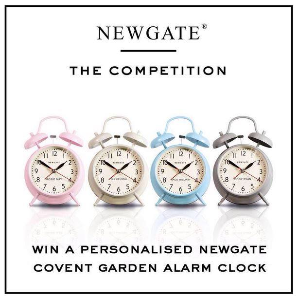 Merveilleux USA. Win A Personalised Newgate Covent Garden Alarm Clock!