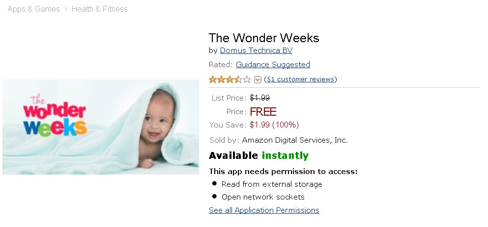Free Android App at Amazon The Wonder Weeks