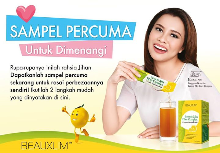 Free Beauxlim Lemon Mix Fibre Complex Sample at Beauxlim Malaysia