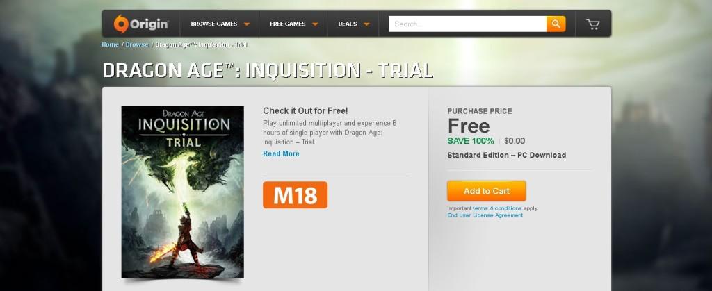 Free Dragon Age™ Inquisition - Trial at Origin (3)