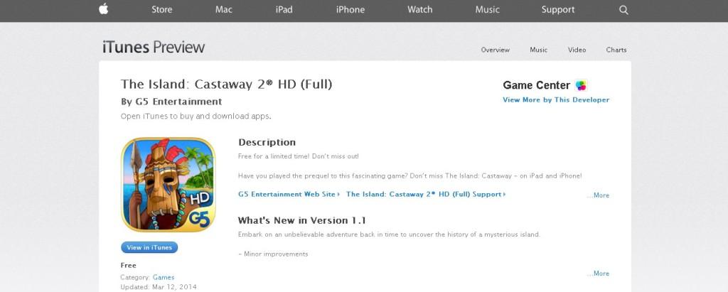 Free The Island Castaway 2® HD (Full) at iTunes