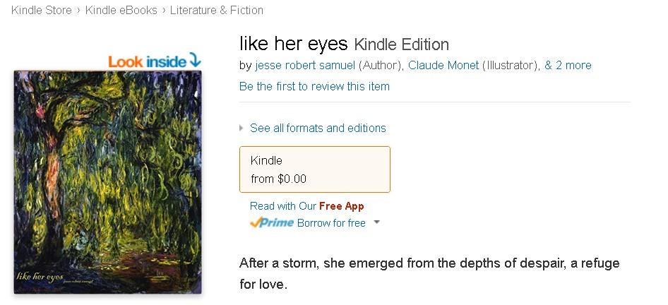 Free eBook @ Amazon- like her eyes