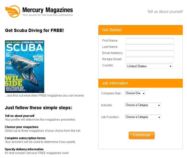 Get Scuba Diving Magazine for FREE at Mercury Magazines