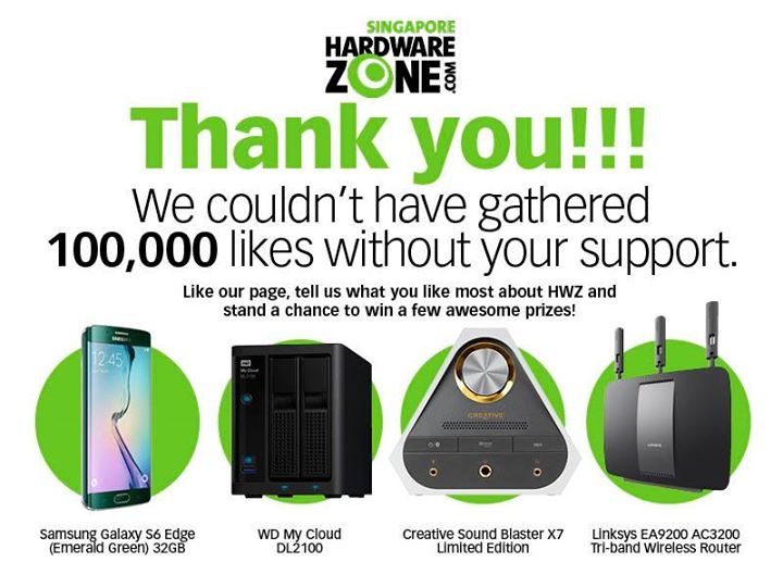 Hardwarezone Giveaway Samsung, WD, Creative and Linksys