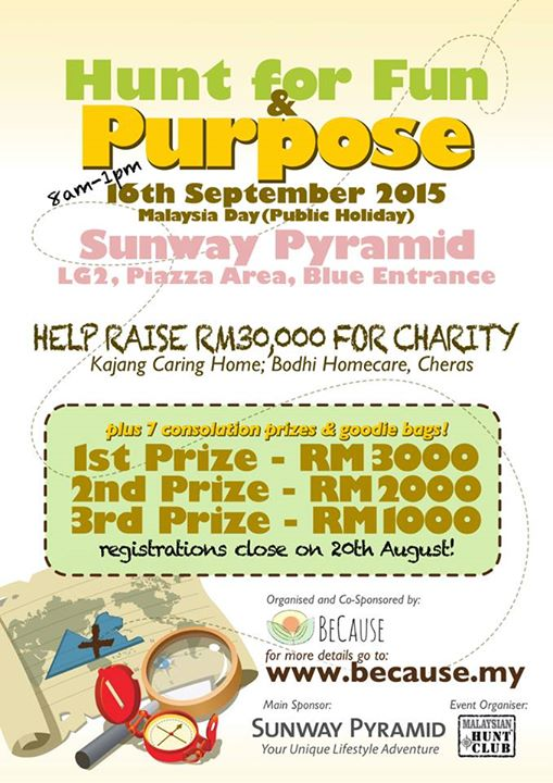 Hunt for Fun & Purpose at Because Malaysia- 1st Prize RM3000