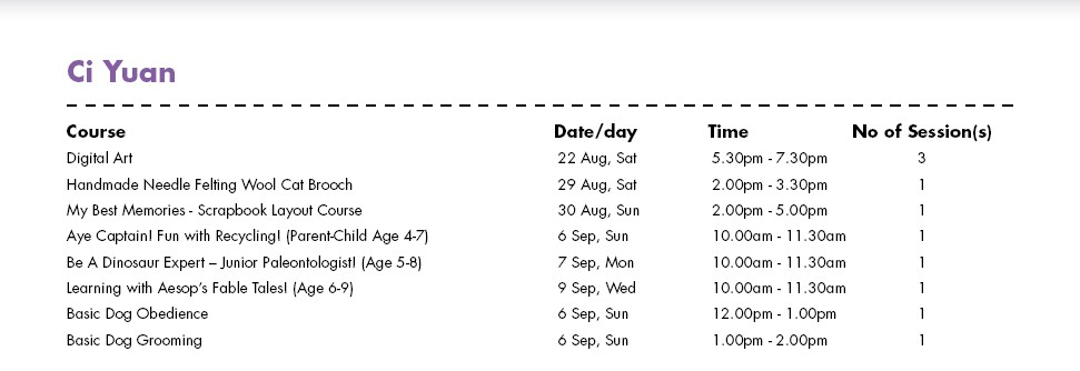 In Celebration of SG50 & PA Community Day Free Courses at Ci Yuan CC Singapore