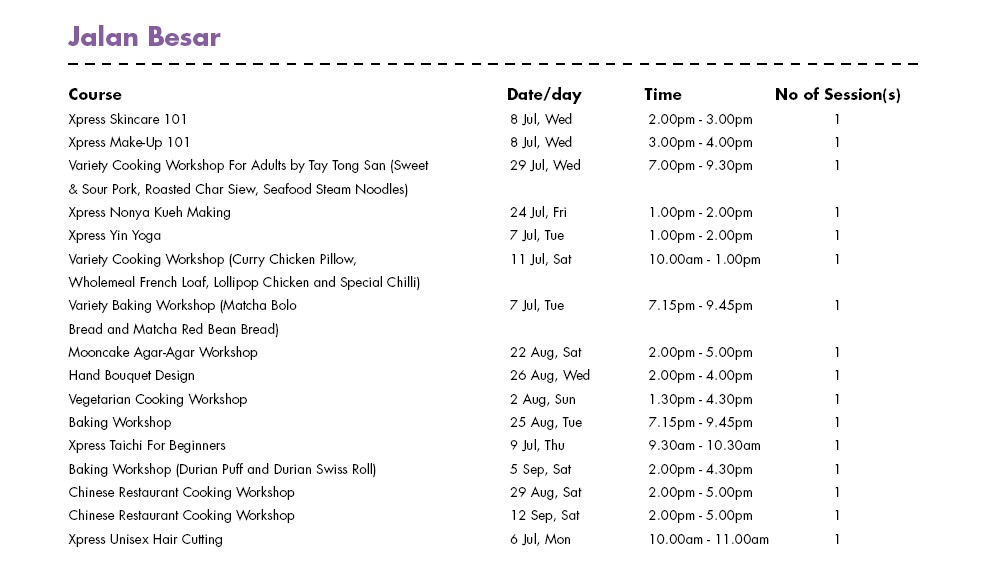 In Celebration of SG50 & PA Community Day Free Courses at Jalan Besar CC Singapore