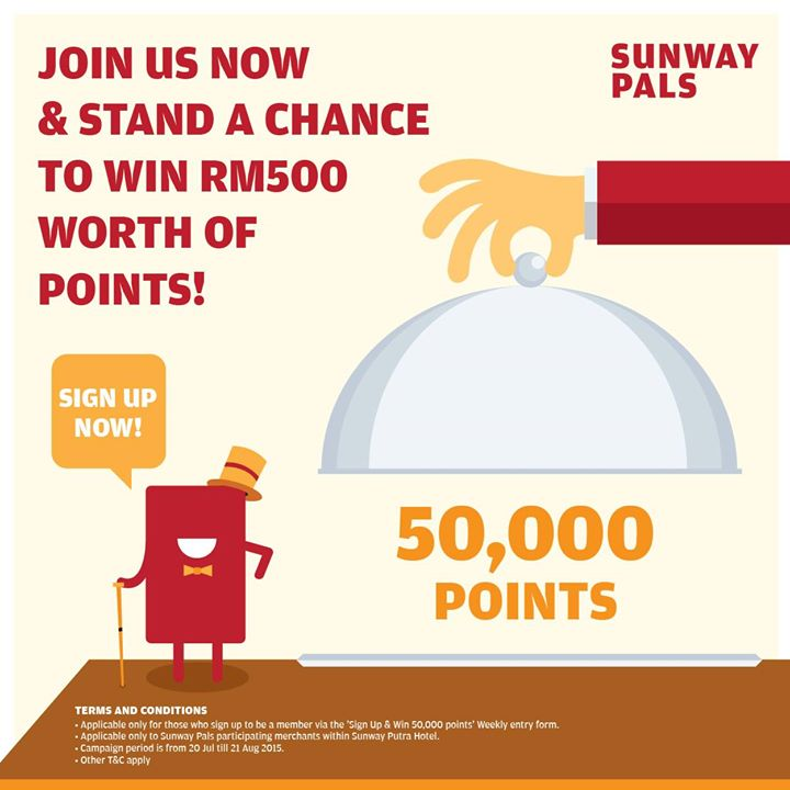 Win RM500 Worth of Points at Sunway Pals Malaysia