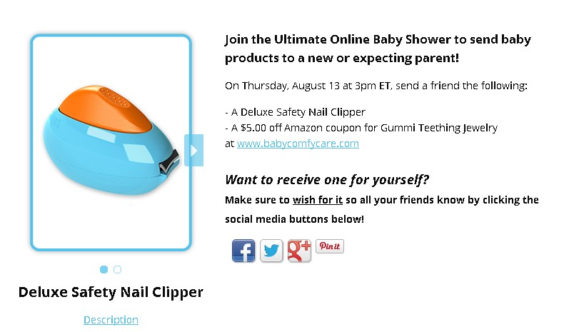 BabyComfyCare Giveaway A Deluxe Safety Nail Clipper