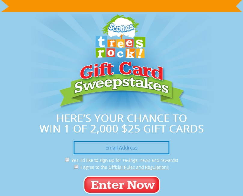 Chance to Win 1 of 2,000 Gift Cards at Scotties