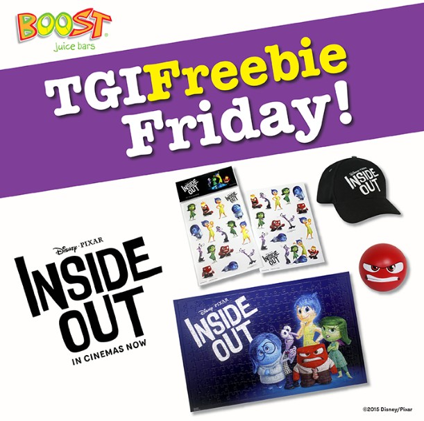 Disney•Pixar's Inside Out premiums to giveaway at Boost Juice Bars Malaysia