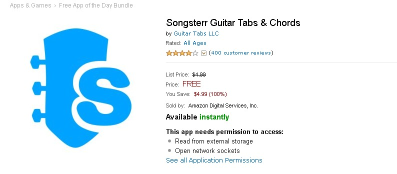 FREE Android App Songsterr Guitar Tabs & Chords at Amazon 1