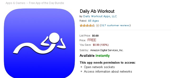 FREE Android App at Amazon Daily Ab Workout 1