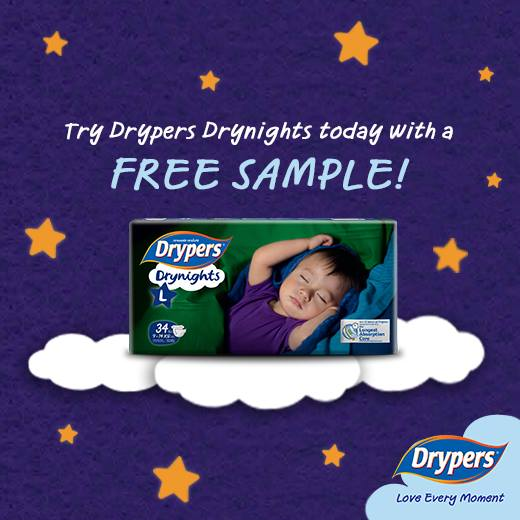 FREE Drypers Drynights Sample at Dryers Singapore