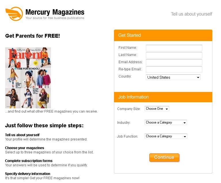 FREE Parents Magazine at Mercury Magazines USA 1