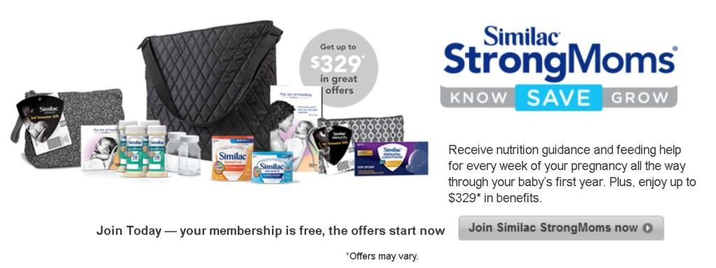 FREE Similac® StrongMoms Gifts $329 in membership rewards 1