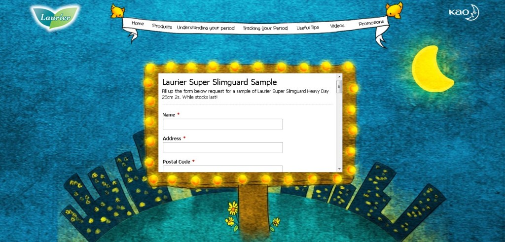 FREE Super Slimguard Sample at Laurier Singapore 1