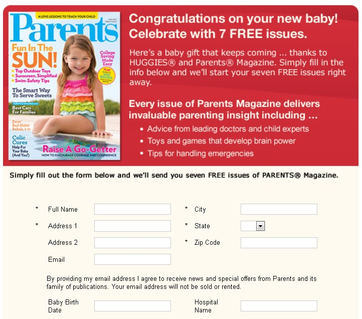 Free 7 Issues of Parents Magazine 1