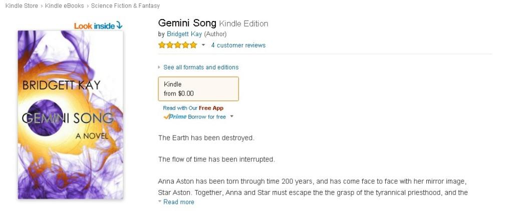 Free Amazon eBook  Gemini Song Form