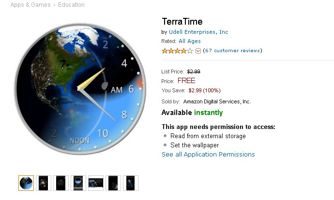 Free Android Education App at Amazon TerraTime 1