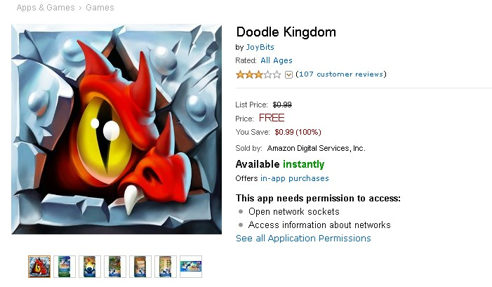 Free Android Game at Amazon Doodle Kingdom