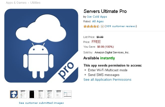 Free Anroid App at Amazon Servers Ultimate Pro