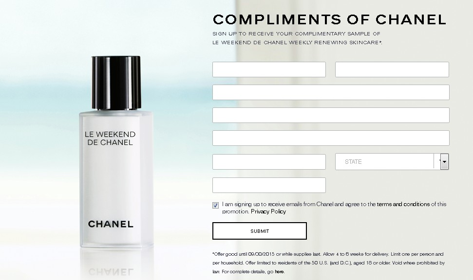Free CHANEL Le Weekend De Chanel Sample