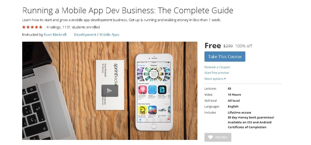 Free Udemy Course on Running a Mobile App Dev Business The Complete Guide1