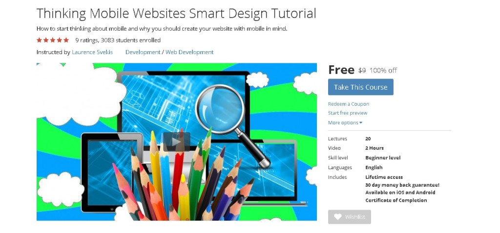 Free Udemy Course on Thinking Mobile Websites Smart Design Tutorial