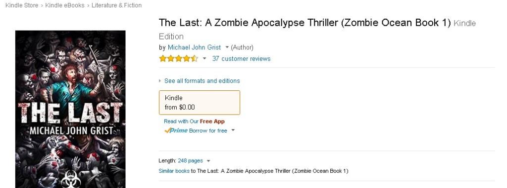 Free eBook at Amazon The Last A Zombie Apocalypse Thriller (Zombie Ocean Book 1)  1