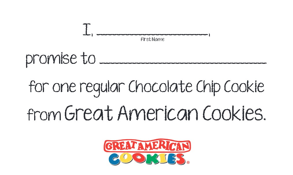 Get a Cookie at Great American Cookies