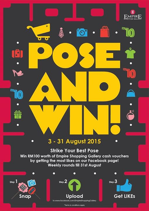 Stand a chance to win RM100 by the end of the week at Empire Shopping Gallery