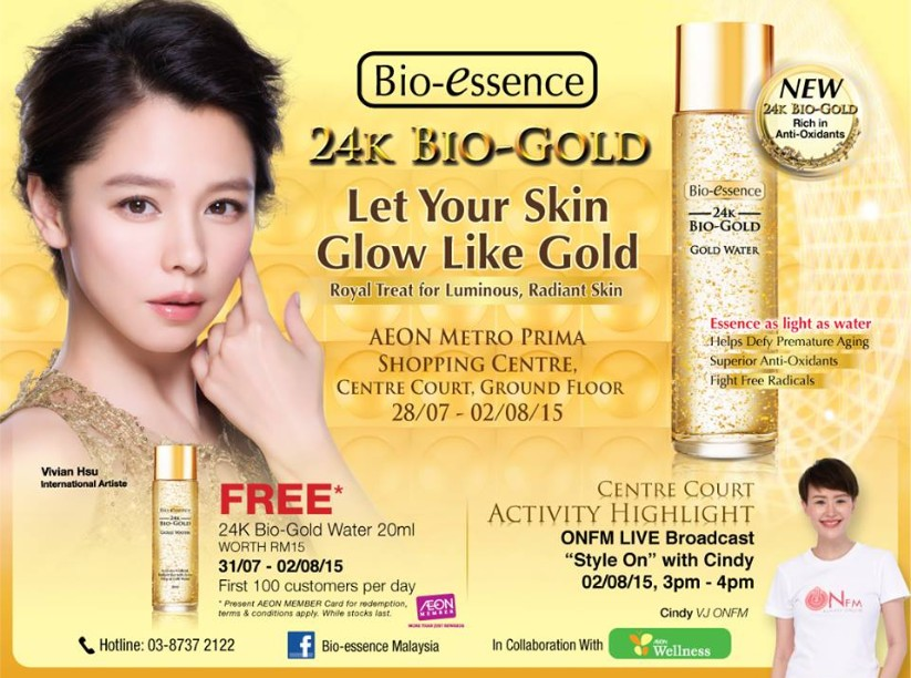 Win Bio-essence 24K Bio-Gold Water at at AEON Metro Prima Shopping Centre Malaysia 1