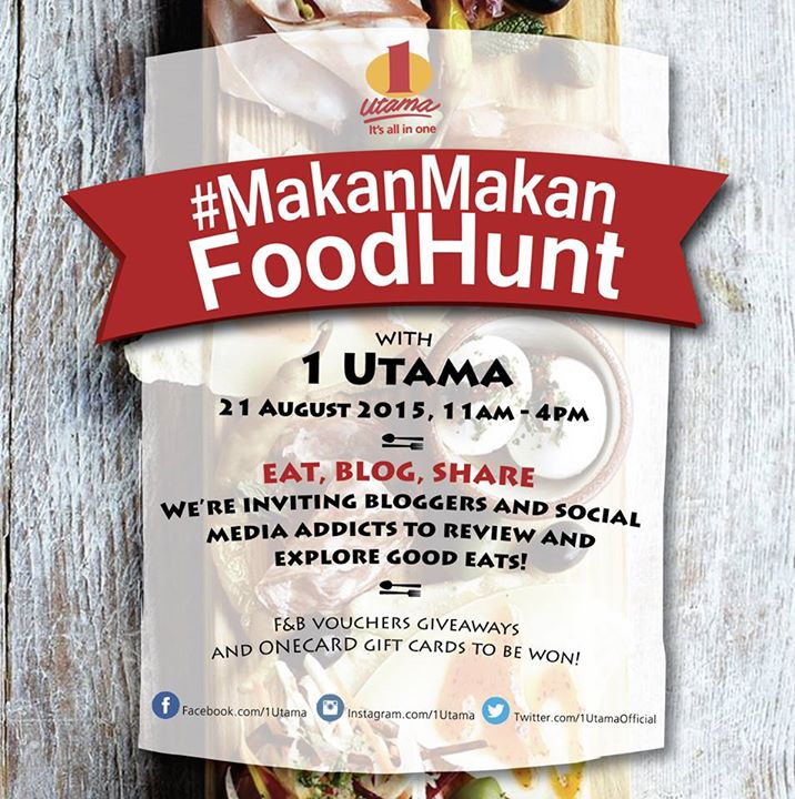 Win F&B vouchers giveaways and ONECARD gift cards at 1 Utama Shopping Centre Malaysia