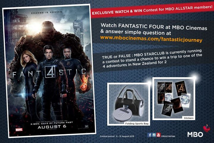 Win LIMITED EDITION FANTASTIC FOUR prizes at MBO Cinemas Malaysia