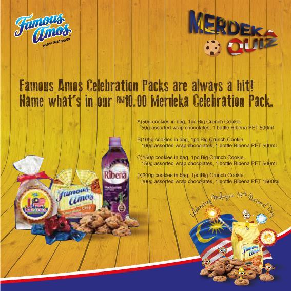 Win RM10 Merdeka Celebration Pack at Famous Amos Malaysia