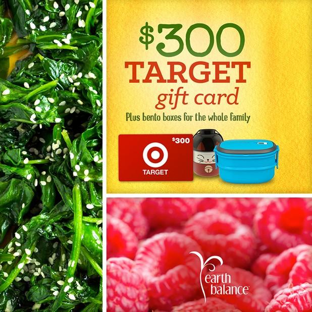 Win a $300 Target Gift Card at Earth Balance® USA