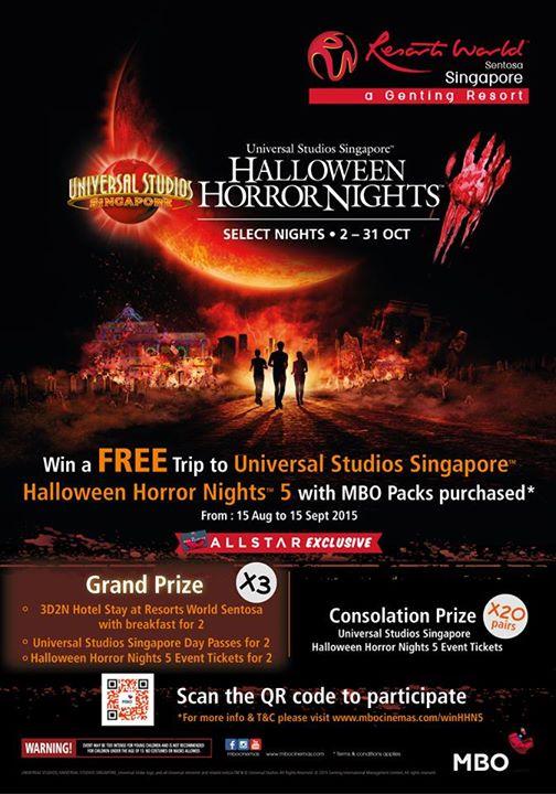 Win a FREE trip to Universal Studios Singapore™ Halloween Horror Nights™ 5!