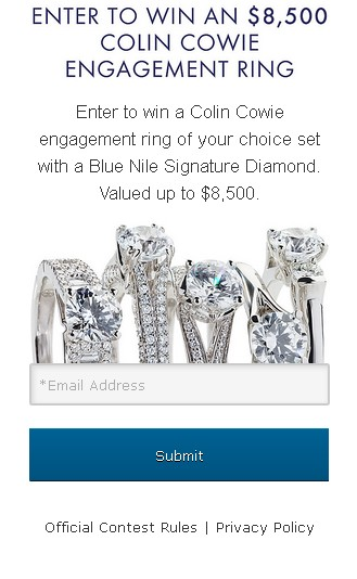 Win an $8,500 Colin Cowie Engagement Ring at Blue Nile